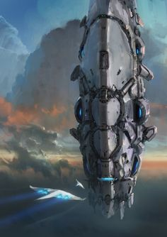 Fighters coming back to the mothership,  #spaceopera #scifi setting and vehicle inspiration