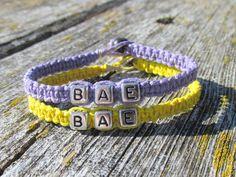 BAE Couples Bracelets Set of Two Lavender by MandarrCreations