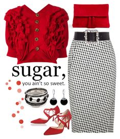 """""""Sugar, You Ain't So Sweet"""" by dickensfan ❤ liked on Polyvore featuring Ann Taylor, Comme des Garçons, Altuzarra, L.K.Bennett, ESCADA and Bling Jewelry"""