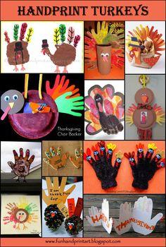 thanksgiving crafts for kids | Handprint Turkey Thanksgiving Crafts for kids