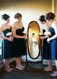 neat pic - bride reflection