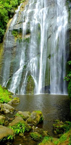 Shine Falls meters high), near Napier, North Island, New Zealand ~ Oh The Places You'll Go, Places To Visit, New Zealand Holidays, New Zealand Landscape, North Island New Zealand, Waterfall Fountain, New Zealand Travel, Beautiful Waterfalls, Amazing Nature