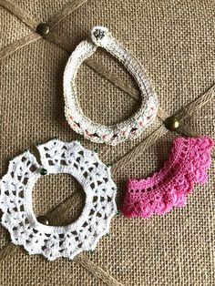 3 Handmade Crochet Necklaces Jewelry for American by CreoCrochet