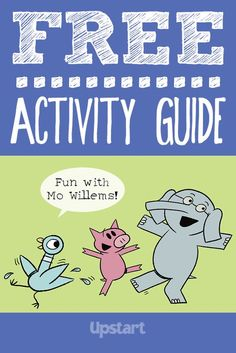 With Mo Willems! Activity Guide Get ready for fun Mo Willems games, crafts and more — like a cookie toss with Pigeon and a dance party with Preschool Books, Kindergarten Literacy, Preschool Activities, Literacy Bags, Media Literacy, Early Literacy, Library Activities, Reading Activities, Elementary Library