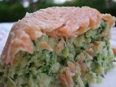 Timbale de courgettes au saumon