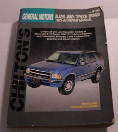 chilton s chevy astro gmc safari 1985 97 repair and tune up guide rh pinterest com 1986 Blazer 1985 K5 Blazer