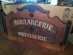 Custom made Boulangerie and Patisserie Bakery by VintageHomeLiving, $295.00
