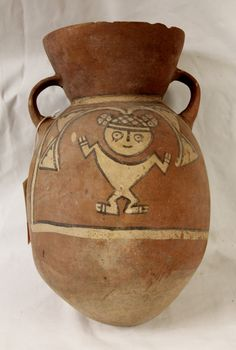 Rare Pre Colombian Ichma ??? (Chancay/Chimu ) like pottery Container Curiosity #8, from Peru, 1100-1440 AD, #951