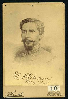 """Patrick RonayneCleburne, 1864  """"We can control the negroes. . . and they will still be our laborers as much as they now..."""