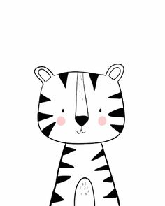 Painting For Kids, Art For Kids, Baby Animal Drawings, Animal Doodles, Kids Poster, Baby Art, Coloring Book Pages, Nursery Art, Doodle Art