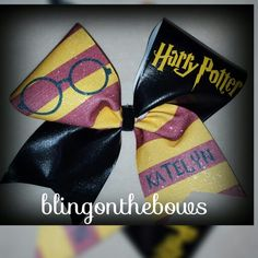 Harry Potter cheer bow by Blingonthebows.com #cheer #allglitterbows #cool…
