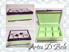 caixa em mdf, decorada com técnica de cartoon mousse