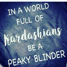 be a peaky blinder