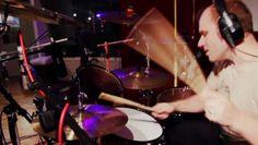 Drummer Jason Bowld in full swing