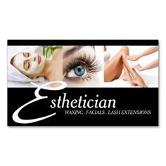 Skin care aesthetician cosmetology business card skin care clinic eye lashes extensions wax facials spa salon beauty business card reheart Images