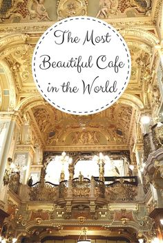 New York Cafe Budapest: World's Most Beautiful Cafe. See more pictures of the food and decor on While I'm Young and Skinny travel blog.