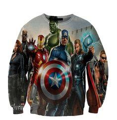 Avengers Iron Man Captain America Hulk Thor crewneck sweatshirt All Over Style Print on Etsy, $59.99