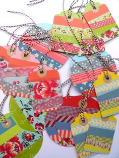 Gift tags  Labels  colorful  snailmail  15 pieces by NikkiDotti, €7,50