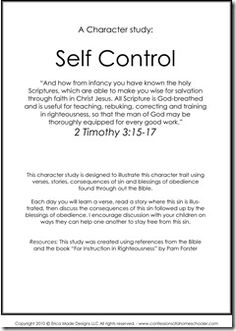 Welcome to 10 Days of Character Studies: Day 9! I can't believe it's almost over, I hope you are all enjoying the studies. I also hope they are helping you and your family develop Godly character traits! Today we're going to be talking about self control. Ya, it's a hard one to swallow for…Read More