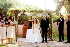 a beautiful couple married in a rustic farm wedding in Phoenix Farm Wedding, Wedding Events, Wedding Ceremony, Dream Wedding, Wedding Stuff, Wedding Ideas, Weddings, Wedding Canopy, Chuppah