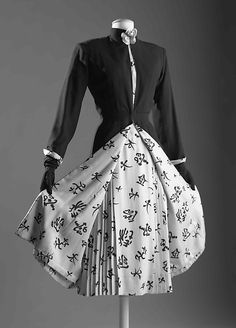"""House of Chanel. Founded 1913. Designer Gabrielle """"Coco"""" Chanel. French 1883-1971. Dress circa1956"""