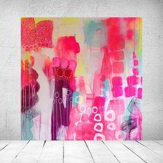 Abstrakte, farverige malerier til det moderne hjem. Stort udvalg af Mette Lindbergs malerier. Færdige malerier og malerier på bestilling.