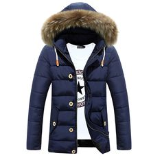 Find More Parkas Information about Winter Jackets Mens 2015 New Arrival Outdoor Windproof Warm Cotton Padded Down Jacket Fashion Casual Fur Hooded Parka Men S 3XL,High Quality jacket parka,China parka baby Suppliers, Cheap jacket double from Eric's on Aliexpress.com