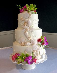 Wedding Cakes Worcester Ma Wedding Cake With Sugar Shells Designed By Specialty Wedding Cakes