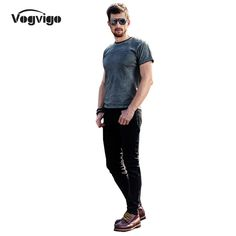 VOGVIGO Spring 2017 New Men Straight Jeans Fashion Slim Full Length Jeans Brand-clothing Men Causal Denim Pants Trousers Homme man accessories ** Click the image to find out more on AliExpress website