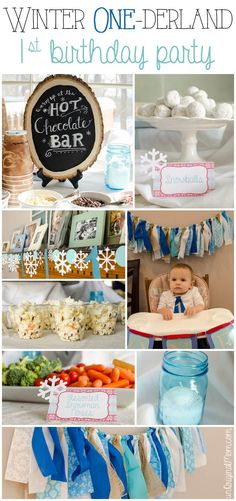 Winter ONEderland first birthday party - what a cute idea for a winter birthday! #winteronederland #1stbirthday #winterbirthday #winterparty #firstbirthdayparty
