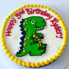 baby dinosaur cookie cake - Hayley Cakes and Cookies Dinosaur Cookies, Dinosaur Birthday Cakes, Cookie Cake Birthday, Unicorn Cookies, Dinosaur Cake, Dinosaur Party, 5th Birthday, Birthday Ideas, Birthday Parties