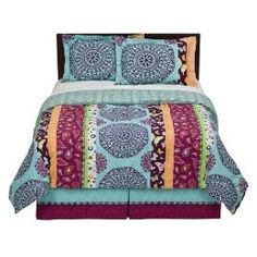 seventeen bedding eva eyelet teal 3 piece comforter sets - teen
