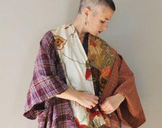 CUSTOM Kimono Wrap with Original Embroidery/Petite to Plus