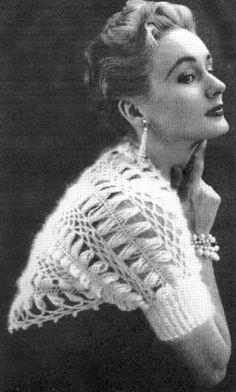 Vintage Crochet Pattern to Make Shrug Wrap Sweater Bolero Hairpin Lace Bolero Pattern, Crochet Shrug Pattern, Vintage Crochet Patterns, Vintage Knitting, Crochet Shawl, Free Pattern, Hairpin Lace Crochet, Crochet Cross, Free Crochet
