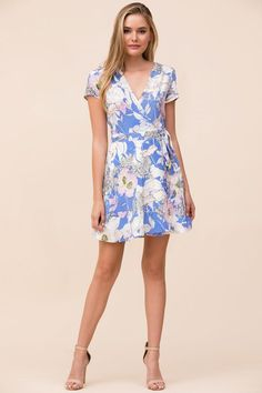 Kennedy Floral Print Silk Wrap Dress YUMI KIM