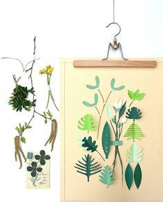 Paper botanical art.
