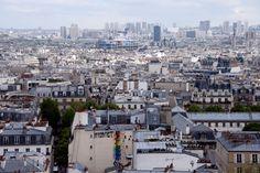 Vue de Montmartre sur Paris