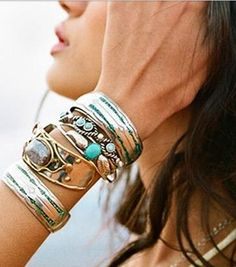 stacked jewellry