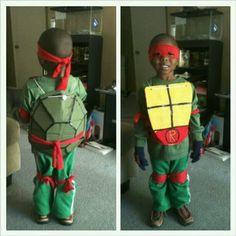 Made my son's ninja turtle costume