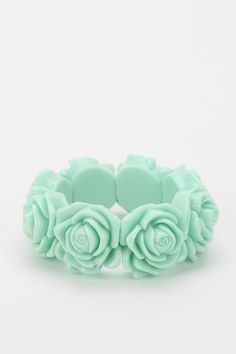 Urban Outfitters -Mint Flower Power Bracelet