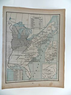 Antique Map oof the United States During Independece 1773 to 1789 by FabulousFunFashion on Etsy