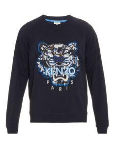 904d01278ef8 Tiger-head embroidered sweater   Kenzo   MATCHESFASHION.COM US Tiger Head,  Kenzo