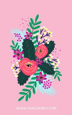 Mia Charro Neon Flowers