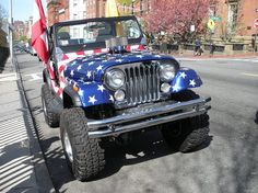 jeep, tea party rally, boston, april us flag Jeep Willys, Jeep Cj, Jeepster Commando, Jeep Life, Rally, 4x4, Tea Party, Antique Cars, Boston