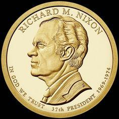 "Nixon  Presidential Dollar Circulated/"" 2016  Richard M"