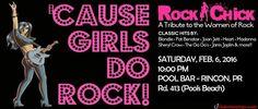 Rockchick: The Women of Rock Live #sondeaquipr #rockchick #poolbar #rincon #poolsbeach #sushipoolbar