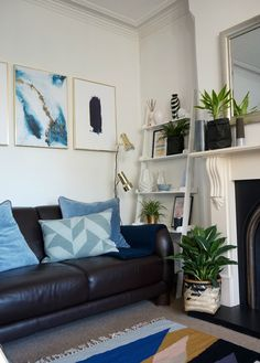 Blue Living Room Makeover With Ideas And Inspirations For Making The Light Bright