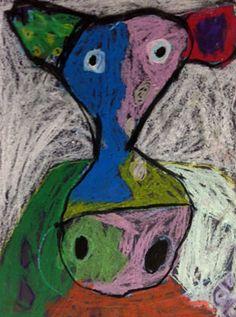 Bovine Love     www.smallhandsbigart.com/blog--Kinders:  cow faces