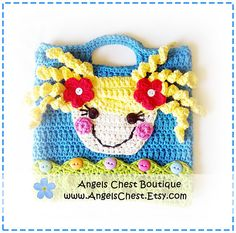 Ravelry: Lala Loopsy Lalaloopsy Doll Inspired Crochet Purse Bag Pattern Boutique Design - No. 39 by AngelsChest pattern by Mary Angel Morris