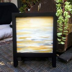 Mini abstract canvas  framed abstract art  by TheSmallestThought